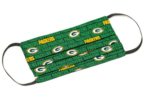 Green Bay Packers green and yellow cloth face mask