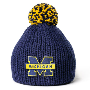 Michigan Wolverines newborn baby hat for boy