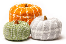 Load image into Gallery viewer, hand knitted fabric fall pumpkins