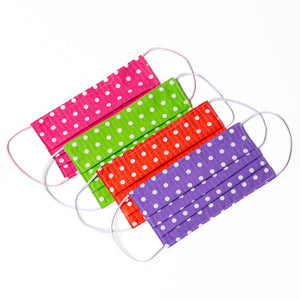 Multiple color polka-dot handmade cloth face masks