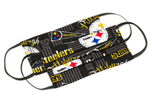 Load image into Gallery viewer, Pittsburgh Steelers NFL handmade cloth face masks