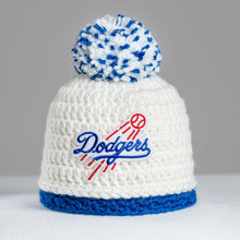 Load image into Gallery viewer, Los Angeles Dodgers Hand-knitted Baby Hat