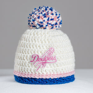 Los Angeles Dodgers Hand-knitted Baby Hat