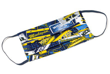 Load image into Gallery viewer, University of Michigan Wolverines pleated cloth face mask