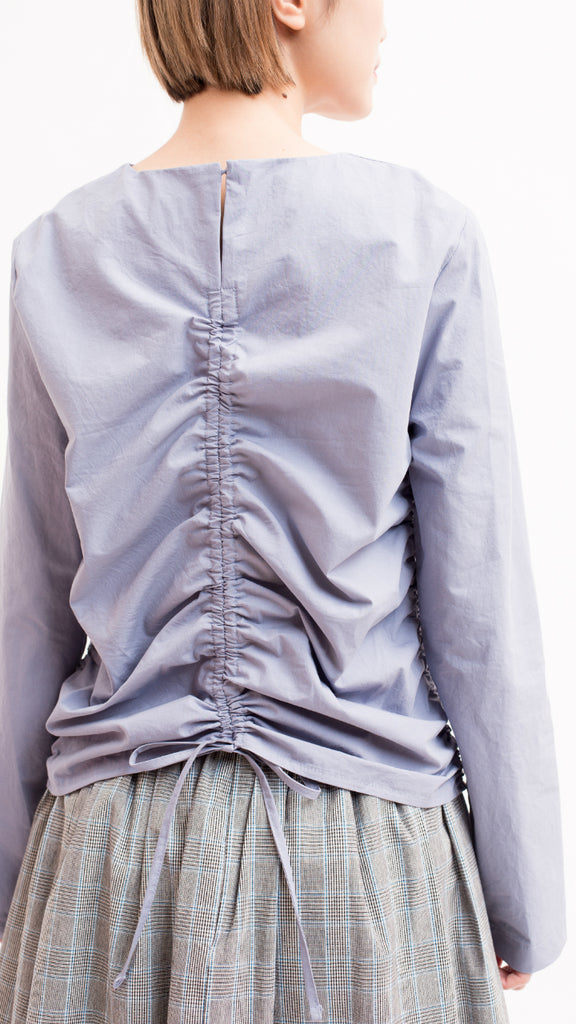 Self-Tie detail ruched blouse