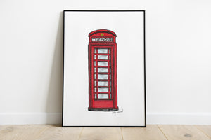 Red UK Telephone Box