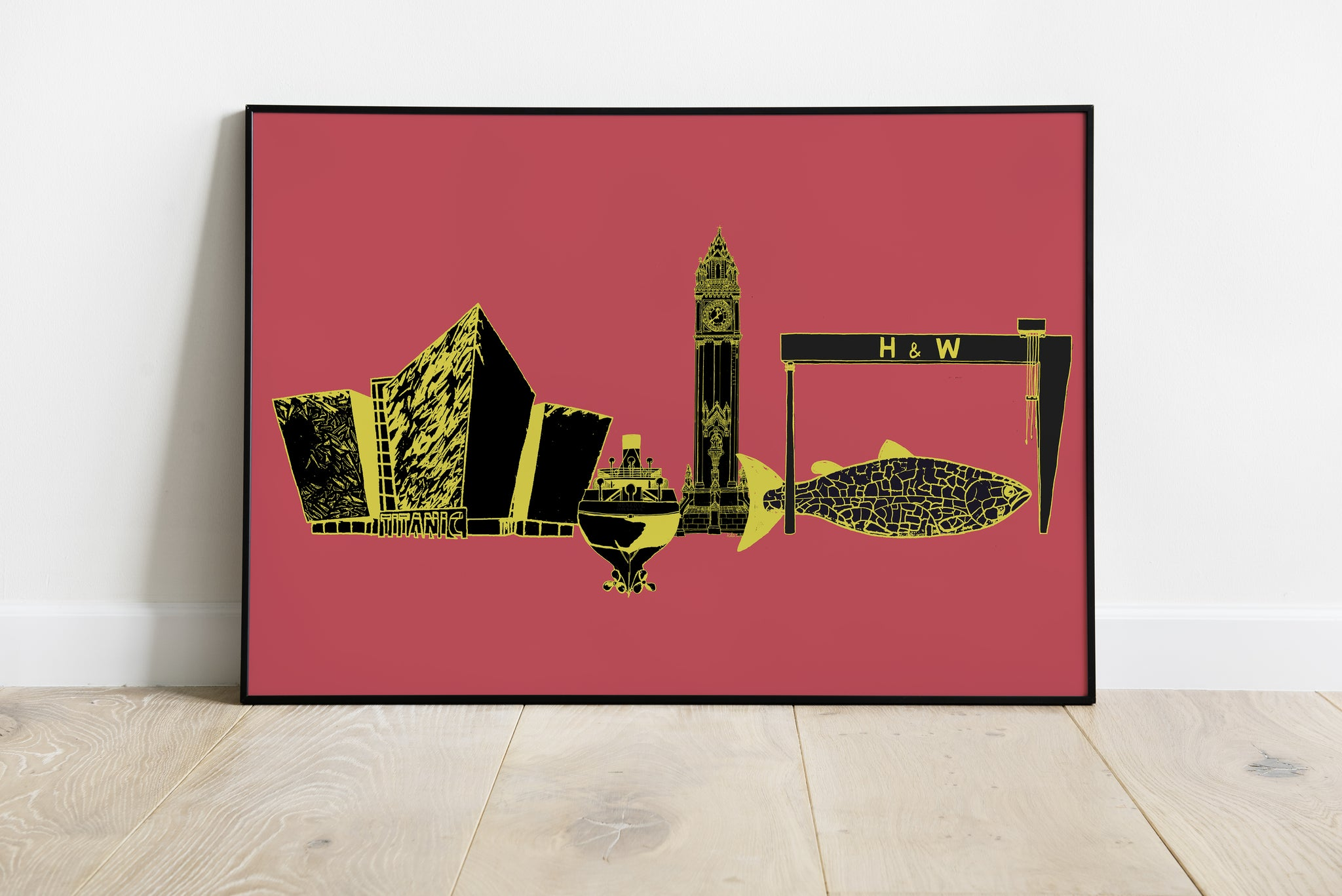 Belfast Skyline Pop Version 1