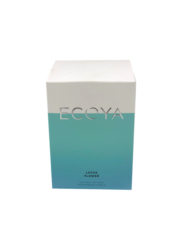 ECOYA Scented Candle, Lotus Flower, 400 gm