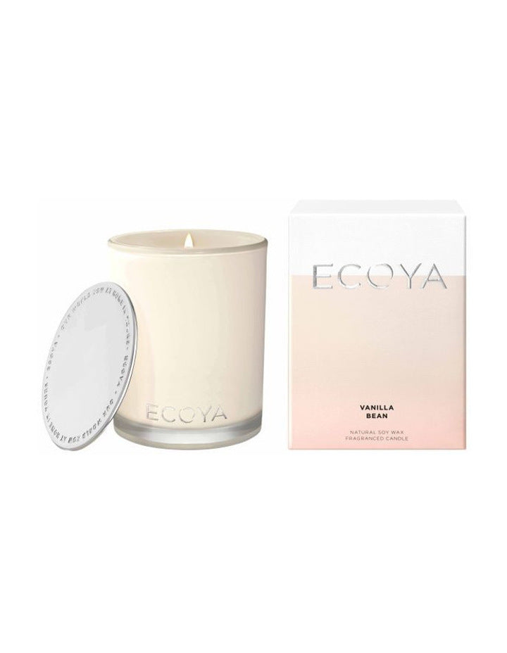 ECOYA Scented Candle, Vanilla Bean, 400 gm