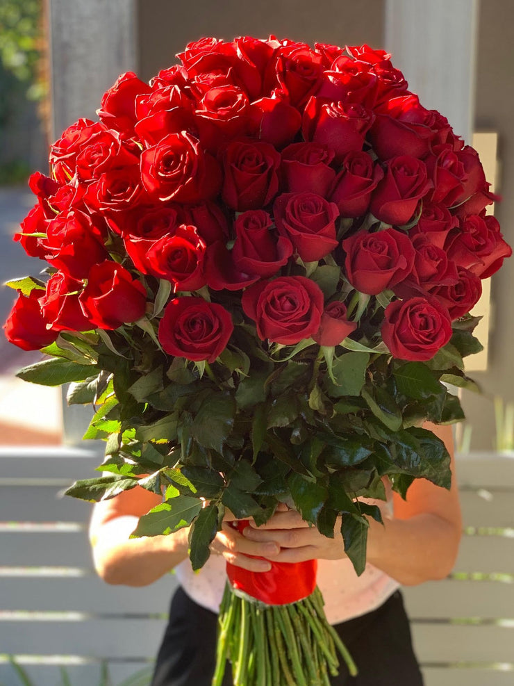 100 Long Stem Red Rose Bouquet
