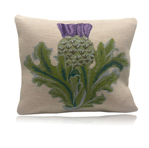 Scottish Thistle on cream