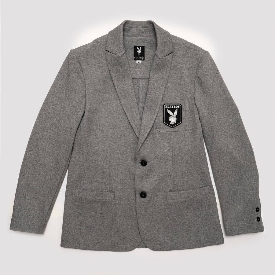 Knit blazer in grey