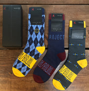 Bustle x KoLab +CANFAR 'Safe Sox' - 3 Pack Box - Argyle, KoLab, Bees - bustleclothing.shop