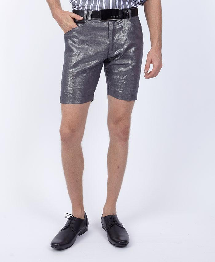 Metallic Linen Shorts - bustleclothing.shop