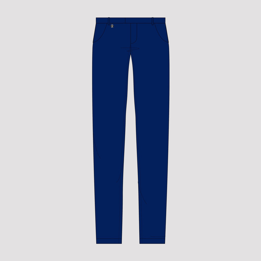 Playboy x Bustle | Collegiate | Knit Structured Pants | Cobalt - bustleclothing.shop