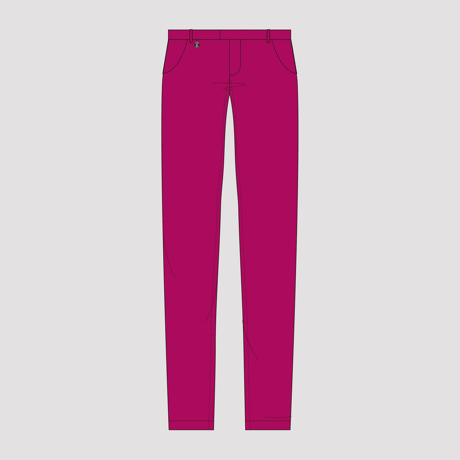 Playboy x Bustle | Collegiate | Knit Structured Pants | Fuchsia - bustleclothing.shop