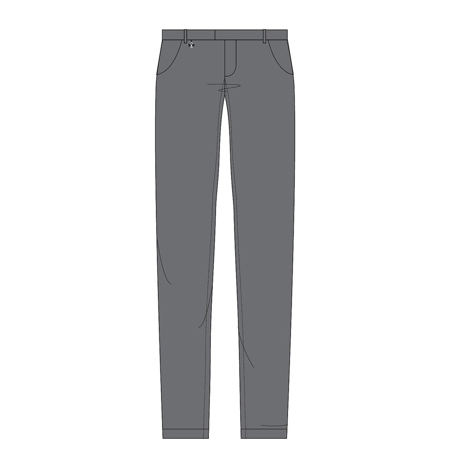 Playboy x Bustle | Collegiate | Knit Structured Pants | Grey - bustleclothing.shop
