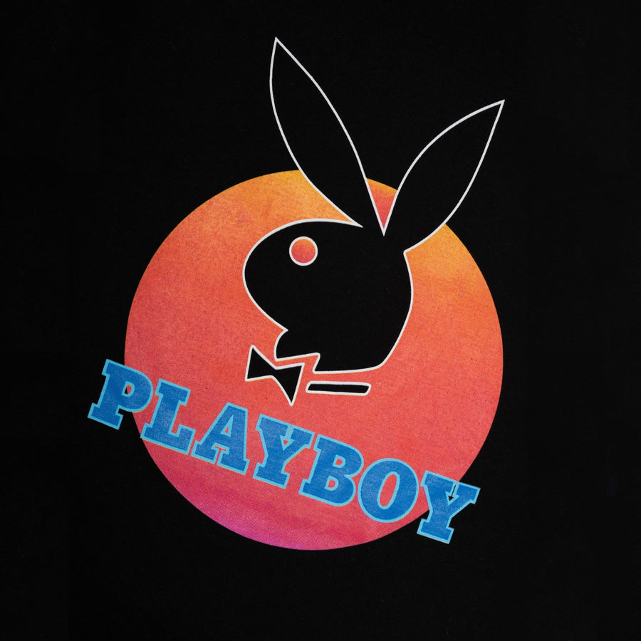 Playboy x Bustle | Heritage | Vintage Inspired T-Shirt | Black w/ Circle Graphic - bustleclothing.shop