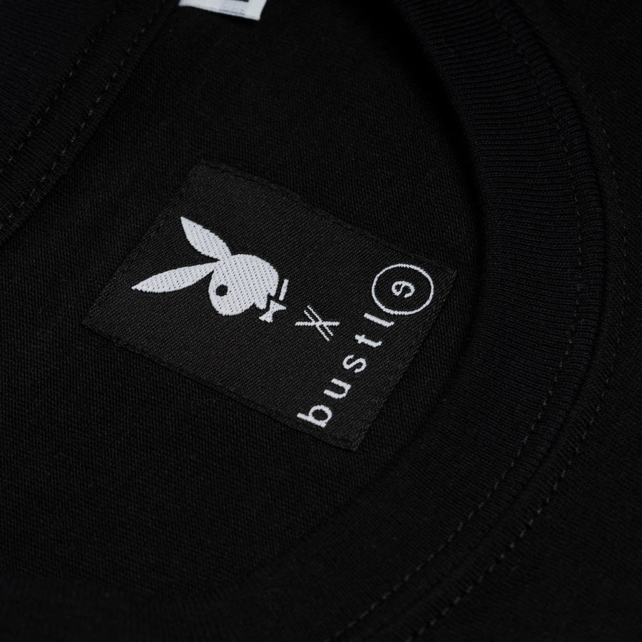Playboy x Bustle | Heritage | Vintage Inspired T-Shirt | Black w/ Gradient Graphic - bustleclothing.shop