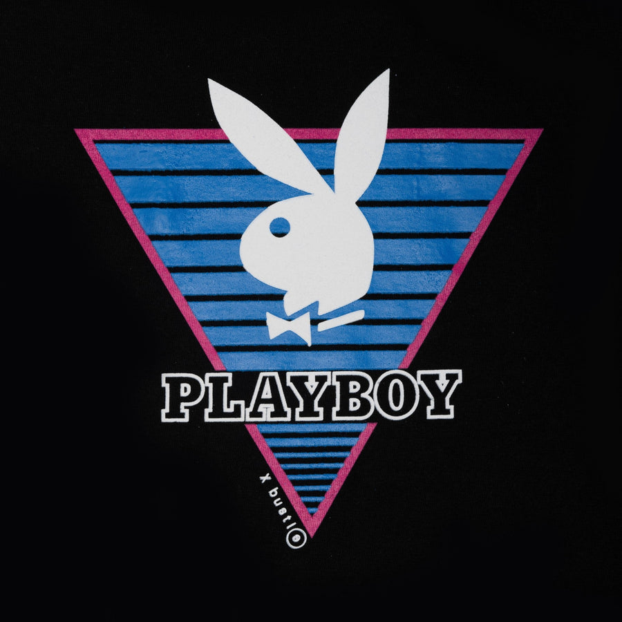 Playboy x Bustle | Heritage | Vintage Inspired T-Shirt | Black w/ Triangle Graphic - bustleclothing.shop