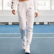 Playboy x Bustle | Millennial | Joggers | White w Black Rabbit Head Tape - bustleclothing.shop