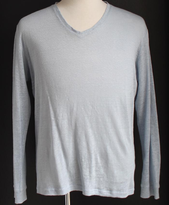 V-Neck Long Sleeve Shirt - bustleclothing.shop