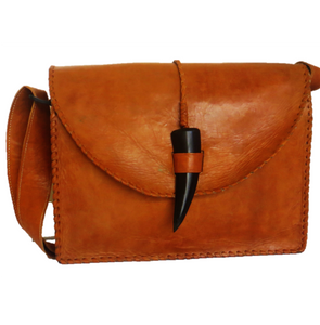 Malik Cow Horn Messenger Bag - Mini