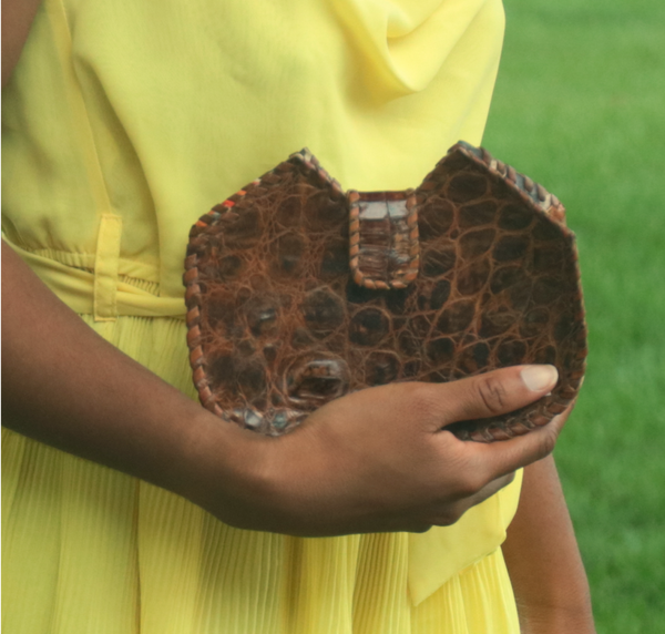 Kru Crocodile Clutch