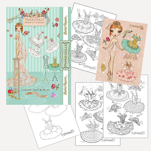 Aurora Paper Doll Set
