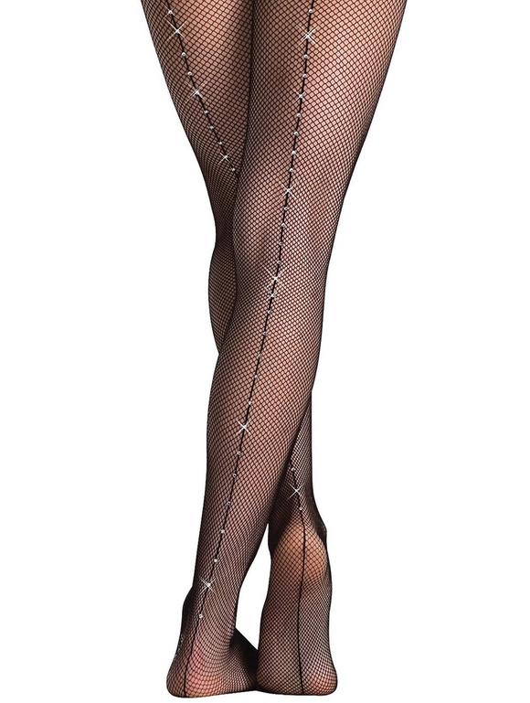 Rhinestone Fishnet Tight - Child
