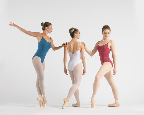 Lovette Pinch Back Leotard with Square Legline