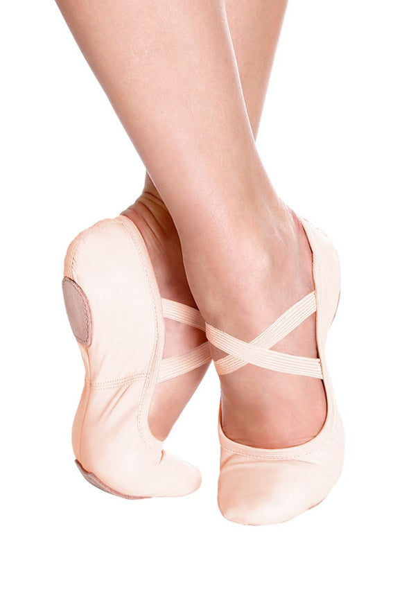 Leather Split Sole Ballet Slipper