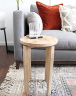 Load image into Gallery viewer, Original White Oak Wood Design End Table