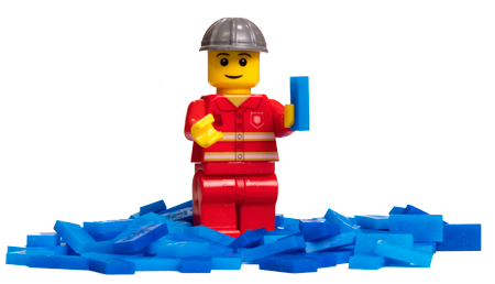 minifigure with micro dominoes