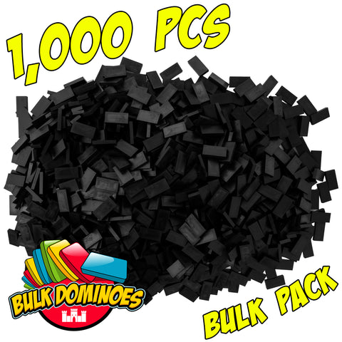 Bulk Dominoes - Black 1000pc Bulk Pack