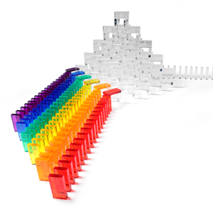 Bulk Dominoes - Clear Assorted Colors