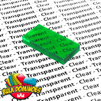 Bulk Dominoes - Clear Green Emerald