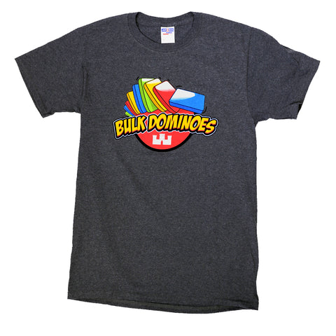 Bulk Dominoes - Black Heather T-Shirt