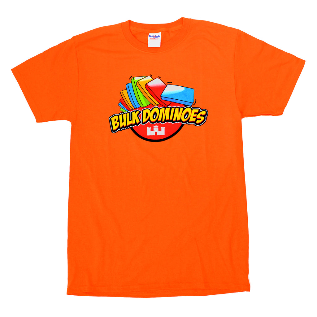 Bulk Dominoes - Orange T-Shirt