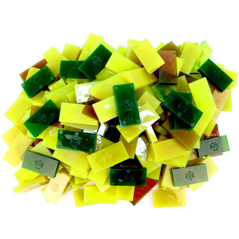 Bulk Dominoes - 1000pc CLOSEOUT - Clear Green - Bulk Pack