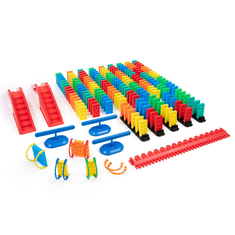 204 Pcs Kinetic Domino Toppling Kit