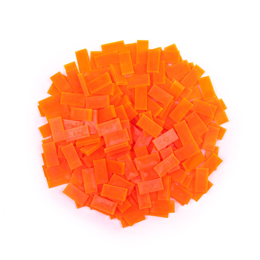 Bulk Dominoes - Mini Clear Orange