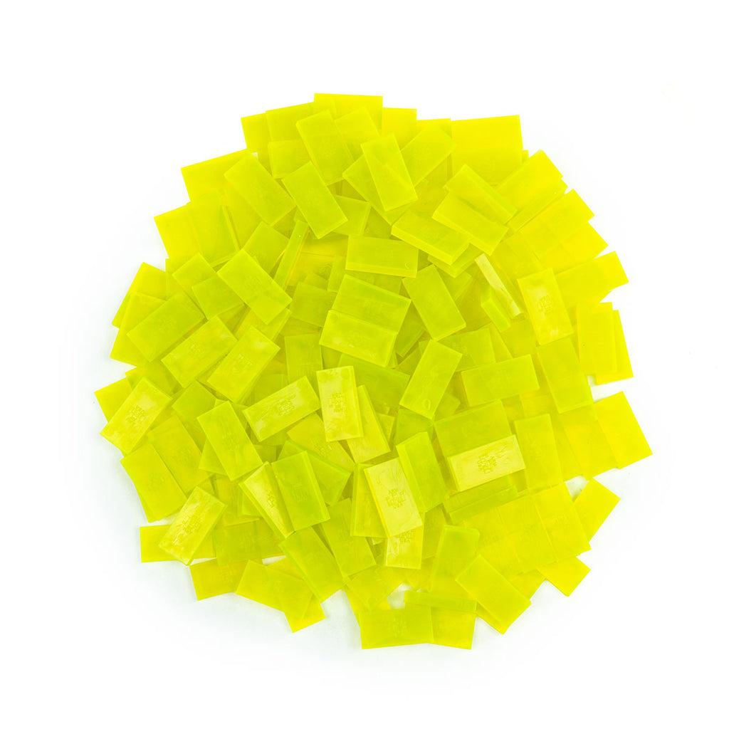 Bulk Dominoes - Mini Clear Neon Yellow