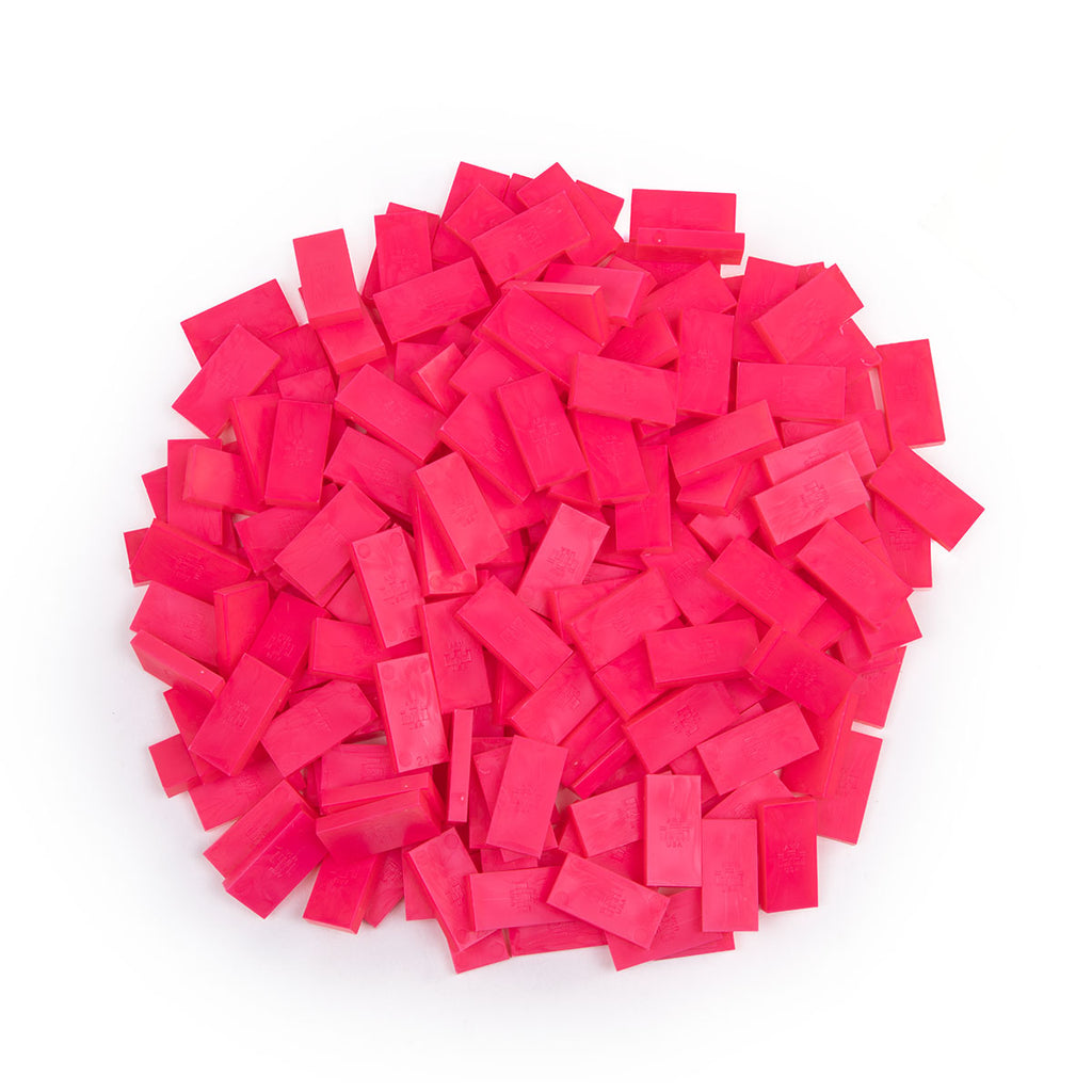 Bulk Dominoes - Mini Hot Pink
