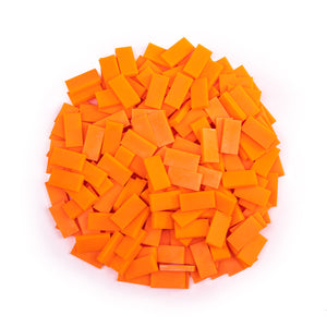 Bulk Dominoes - Mini Neon Orange