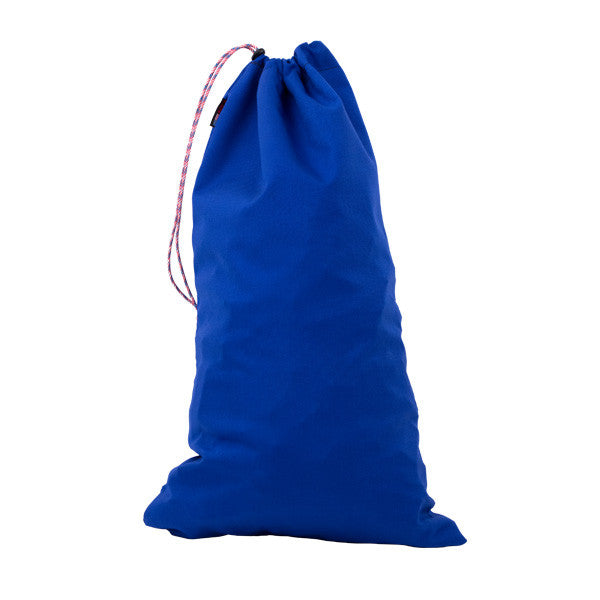 blue plastic domino storage bag