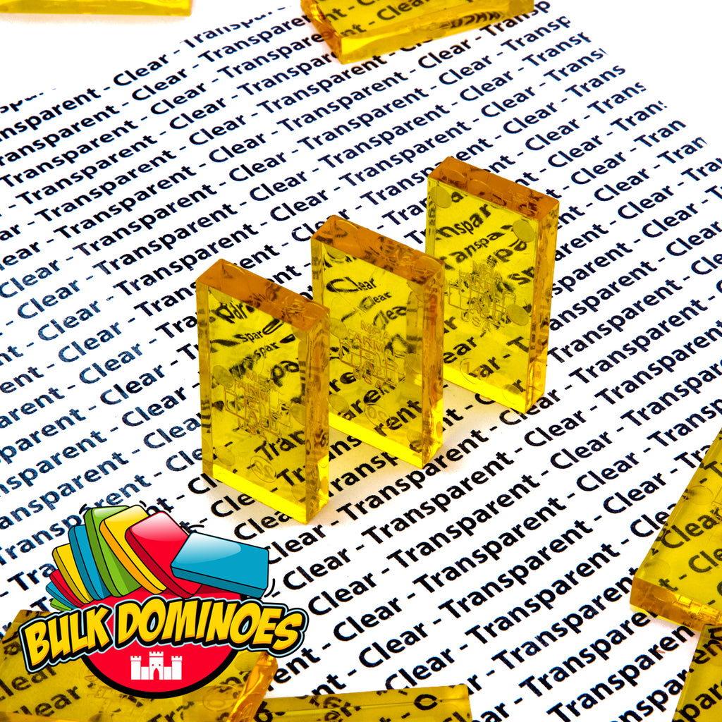 Bulk Dominoes - Clear Yellow