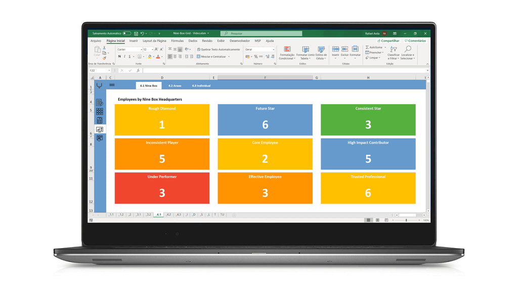 9 Box Grid Talent Management Spreadsheet - LUZ Templates