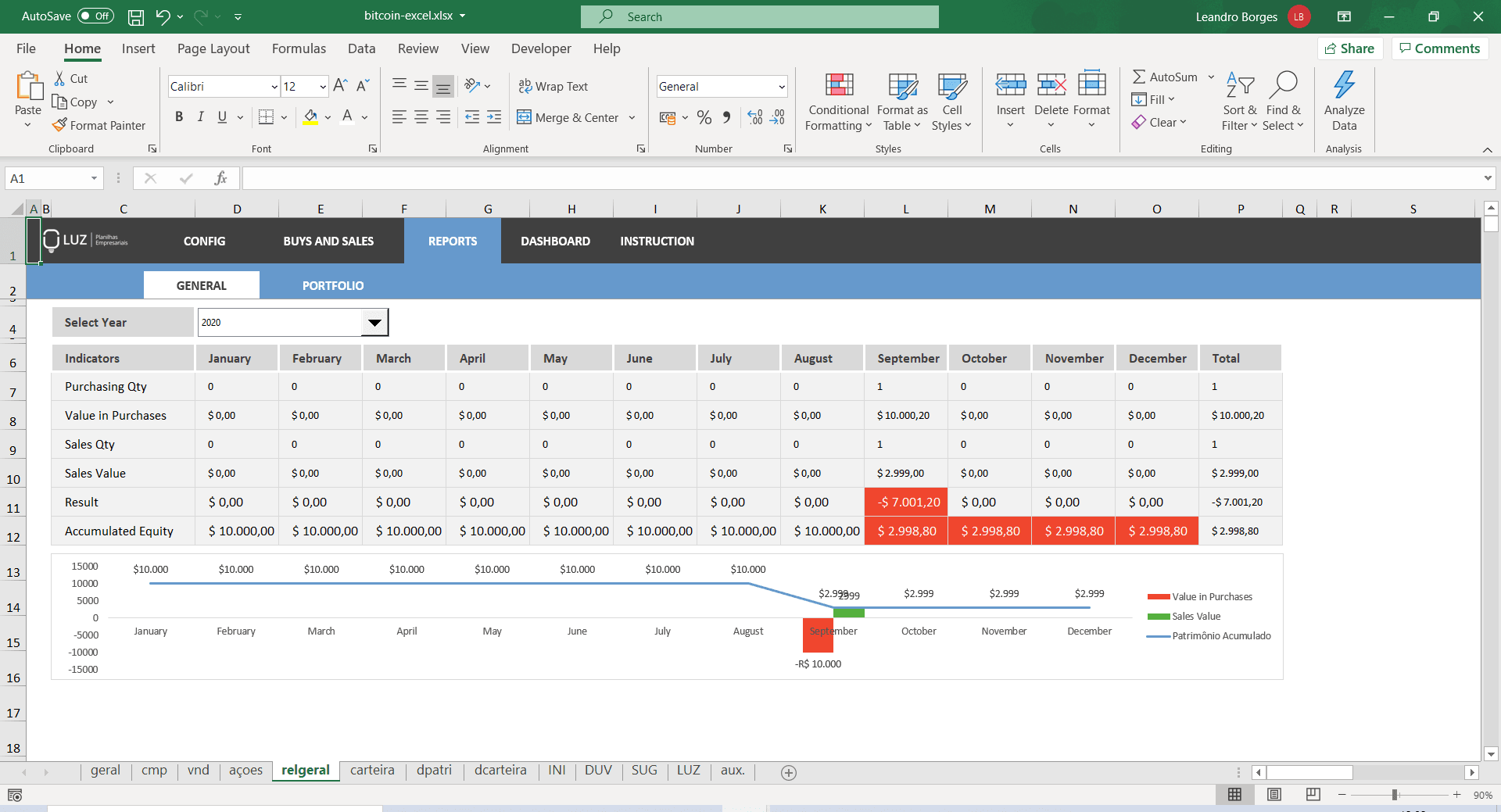Crypto-Wert in Excel