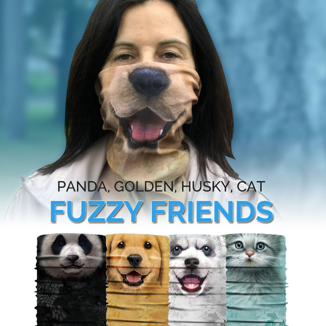 Bandanimals™ Fuzzy Friends Bundle (Golden, Husky, Panda, Cat)